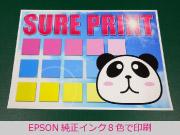 EPSON純正8色インクで印刷時